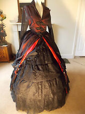 Raven Gothic Victorian Steampunk Vintage Medieval Long Frock Corset Coat Jacket