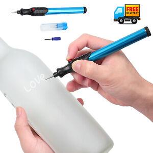 Engraver Pen Electric Micro Engraver Tool  Wood Diamond Metal Ceramic Glass Blue