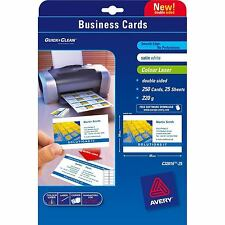 Avery Colour Laser Business Cards Double Sided Satin C32016-25