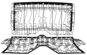 1967-69 Camaro, Firebird Convertible, 67 Deluxe Coupe Rear Seat Spring Frame Set