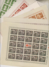CROATIA,WW II,red cross 1942 , imperforated color proof set sheets no gum