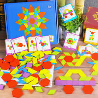 155pcs Wooden Jigsaw Puzzle Board Set Colorful Baby Montessori Educational Toys