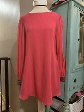 Guess by Marciano Coral Pink Long Sleeve Tunic Top Dress Baby Doll Size Small S
