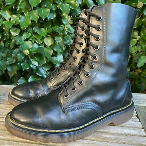 Dr Martens 1490 10 eye black vintage Made in england boots UK 5 EU 38 US 7 L