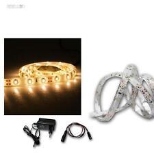 1m Set LED-Streifen + Trafo, warmweiß Stripe Flexibel 60 SMDs, Lichtleiste, Band