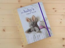 NEW BEAUTIFUL MY BABY'S FIRST YEAR BABY RECORD BOOK MEMORY JOURNAL RYLAND PETERS