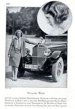 Automobilistin Brigitte Helm mit ihrem Mercedes-Benz Cabrio Photo-Collage c.1930
