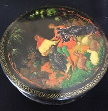 Early Soviet Lacquer Box By Iconographer S. Bakhirev c 1920/30 Russian