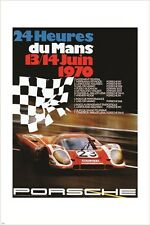 24 HOURS LE MANS vintage car poster RACING JUNE 1970 speed 24X36 HOT