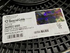 General Cable GenSPEED 6000E 23/4P Cat6E Network Cable CMP-LP Plenum Blue /100ft