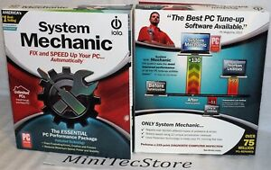 IOLO SYSTEM MECHANIC UNLIMITED HOME PCs 1YEAR RETAIL BOX NEW SIALED