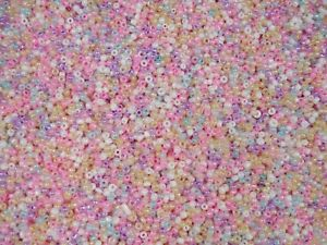Seed Beads 2mm Pastel Mix 100g Glass 10/0 DIY Necklaces Bracelets FREE POSTAGE