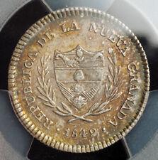 1849, Colombia, Republic of Nueva Granada. Silver 2 Reales Coin. PCGS AU-58!