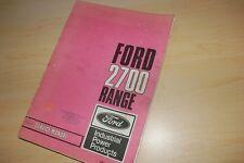 FORD 2700 RANGE Diesel Service Manual Repair shop book industrial marine motor