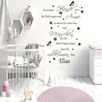 Wandtattoo AA162 Kinderzimmer ++Da werden Hände sein Spruch personalisiert baby
