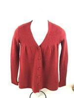Vince. 100% Cashmere Sweater Cardigan Button down Size S. Red