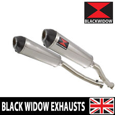 ZZR 1400 ZX14 Ninja 2008-2011 4-2 Exhaust Silencers Stainless + Carbon Tip 400ST