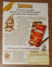 Vintage 1982 DOUWE EGBERTS AMPHORA Cavendish pipe tobacco Print Ad advert German