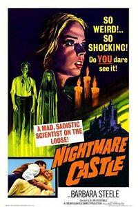 Nightmare Castle aka The Night of the Doomed 1965 Barbara Steele Horror DVD
