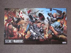 Marvel Comics Secret Warriors Captain America Nick Fury Superhero Poster 36x21