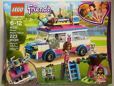 LEGO Friends 41333 Olivia's Mission Vehicle (223 pc) w/ Zobo Robot Retired NEW
