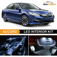 14x LED White Light Interior Package Deal For 2013 - 2017 Honda Accord + Back UP