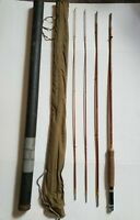 "VTG Montague Rapidan Genuine Tonkin Bamboo 8'5"" 3 Piece Fly Fishing Rod w/ Case"