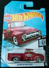 2019 Hot Wheels Red Custom 56 Ford Truck Kroger exclusive NEW MIP