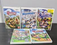 Lot of 5 Nintendo Wii Backyard Sports Football, Baseball and Sport games