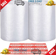 """2 Pack Bubble Cushioning Wrap Small Bubble 12"""" x 72 ft Wide Perforated Each 12"""""""