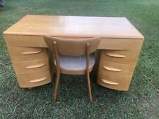 HEYWOOD WAKEFIELD KNEEHOLE DESK AND CHAIR RESTORED WHEAT FINISH