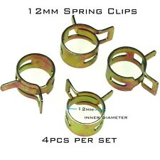 4x  Fuel Line Hose Tube Spring Clips Clamps 12mm for Steel Band Scooter ATV
