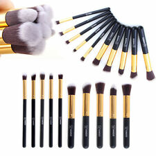 10 tlg Makeup Brush Pinsel kit Profi Eyebrow Kosmetik Schminkpinsel Beauty Set