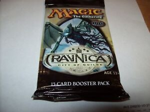 MTG RAVNICA CITY OF GUILDS STILL SEALED BOOSTER PACK FREE SHIPPING WITH TRACKING