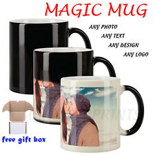 Personalised Magic Mug Cup Heat Colour Changing Custom Photo Text Logo Design Uk