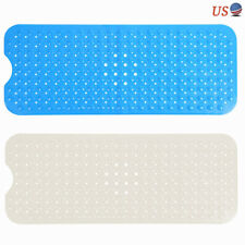 Safety Rectangle Bathroom Non Slip Mat Soft Shower Bathtub Mat with Suction Cup
