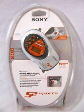 "NEW Sony Armband Radio ""TV-Weather-AM-FM Walkman"" S2 Sports SRF-M80V Headphone"