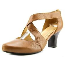 Leather Mary Janes Wide (C, D, W) Heels for Women