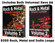 Rock & Metal Ultra Mega Drums Bundle Wav Samples Loops Ableton Cubase Rock Drums