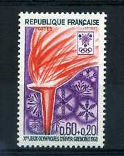FRANCE 1968 timbre 1545, Jeux Olympiques flamme, neuf**