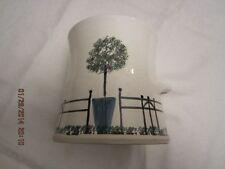 White Pottery Kitchen Utensil Holder - Signed MAINE P - Unknown Maker