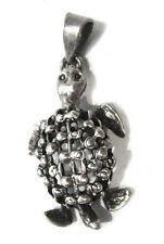Pendant Handmade from Mexico Taxco .925 Sterling Silver Turtle