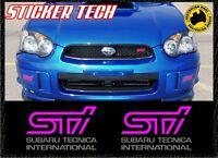 2 x SUBARU PINK STI FOG LIGHT COVER STICKER DECAL MADE TO SUIT IMPREZA WRX 03-05