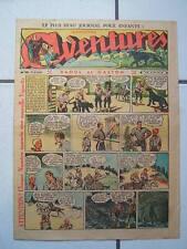 AVENTURES / NUMEROS 38  /  21  SEPTEMBRE  1937