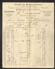 "PARIS (II°) PASSEMENTERIE & TISSUS ""L. DANARD"" en 1912"