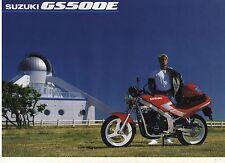 1991 SUZUKI GS500E 2 page Motorcycle Brochure NCS