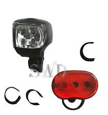 Super Bright LED Mountain Bike Front & Rear Light Set Bicycle Cycle Night Safety