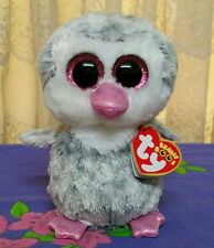 *Ty Beanie Boos ~ OLIVE  the grey coloured Penguin 15cm *  Claire's Exclusive