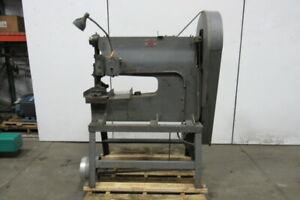 """WHITNEY- JENSEN Mechanical C Frame Punch Press 2"""" Stroke 24"""" Throat 230V 3Ph"""