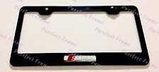 Audi S Line 3D Emblem Stainless Steel License Plate Frame Rust Free W/cap
